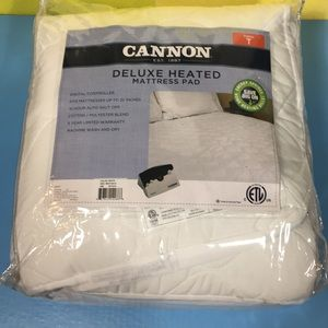NEW Cannon Deluxe Heated Mattress Pad Twin